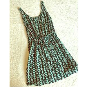 Forever 21 teal and navy blue mini dress